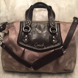 COACH Ashley Dotted OpArt Satchel